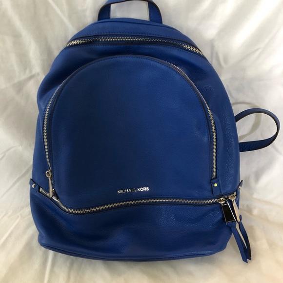 7c4b0d878fd26c MICHAEL Michael Kors Bags | Michael Kors Rhea Large Leather Backpack ...